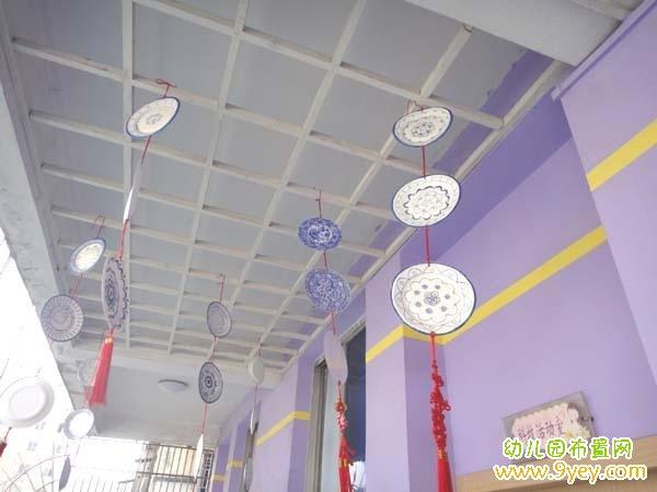 幼儿园中国风走廊吊饰布置
