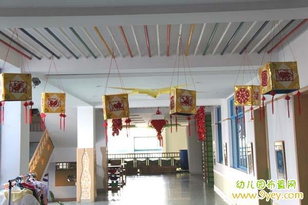 幼儿园元宵节中国风环境布置