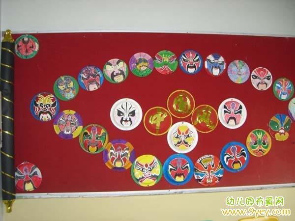 幼儿园中国风主题墙布置