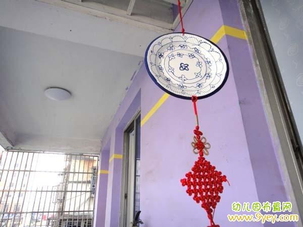 幼儿园中国风挂饰装饰:青花瓷