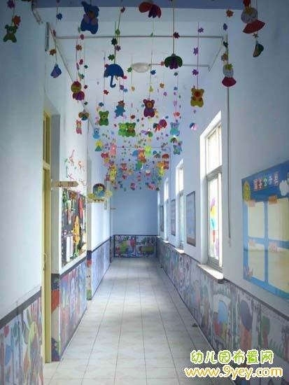 漂亮的幼儿园楼道环境布置