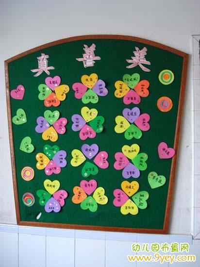 幼儿园中班红花栏设计图展示