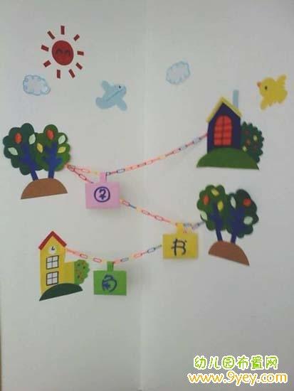 幼儿园图书角墙面布置图片