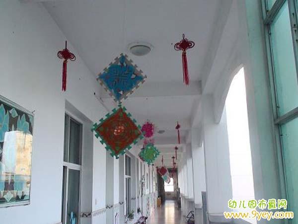 幼儿园楼道吊饰布置图片
