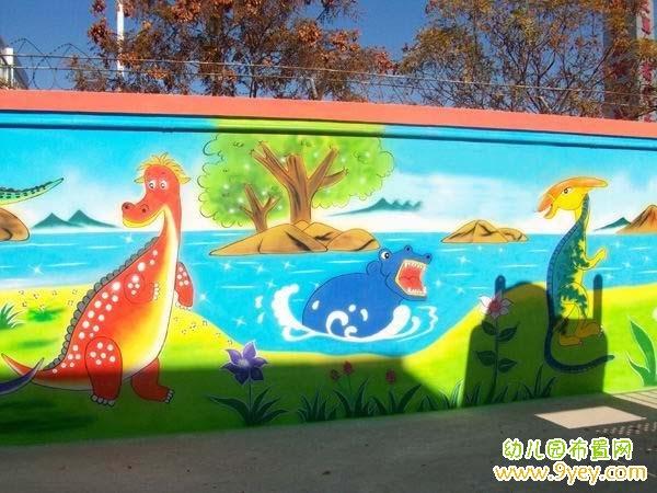 幼儿园围墙绘画图案