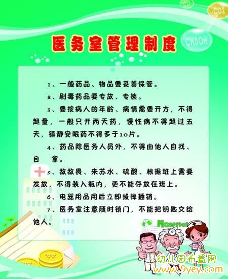 幼儿园医务室管理制度表设计