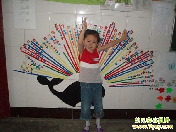 幼儿园墙面红花栏创意设计