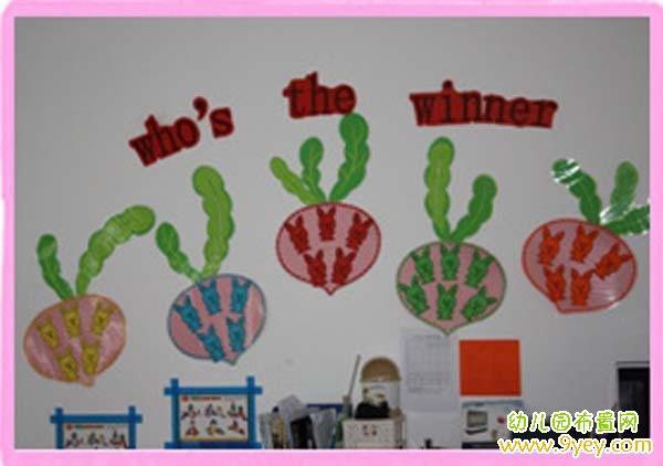幼儿园红花榜布置:谁是冠军