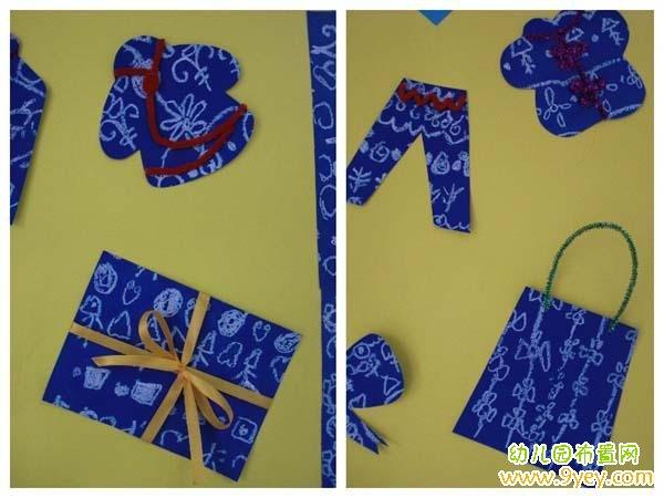 幼儿园中国风环境布置:蓝印花布图片