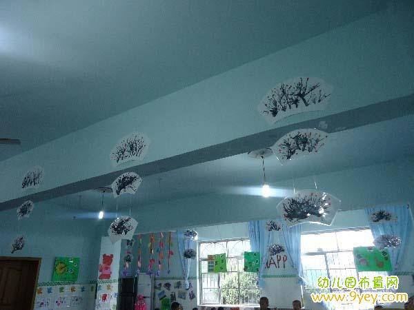 幼儿园教室中国风吊饰布置:中国水墨画
