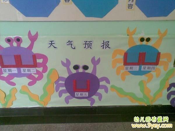 幼儿园小班天气预报墙饰图片