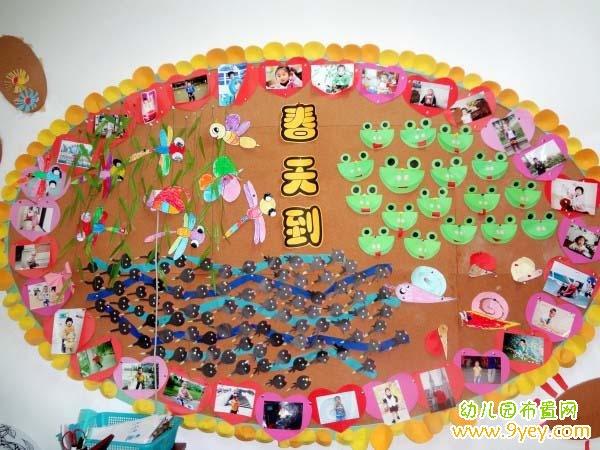 幼儿园春天主题墙布置:春天到图片