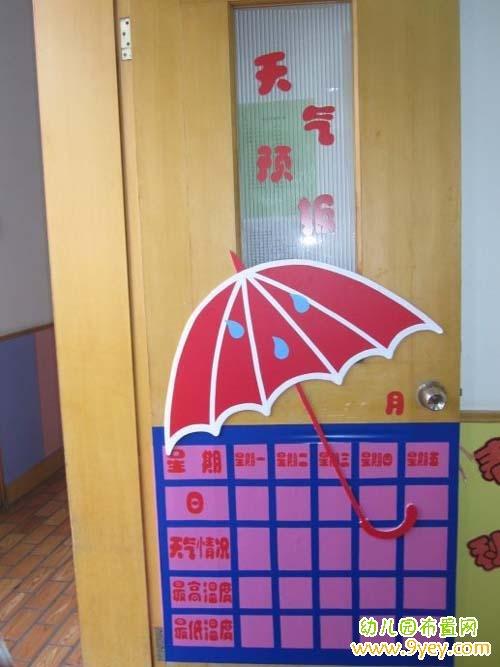 幼儿园做在门上的天气预报图片