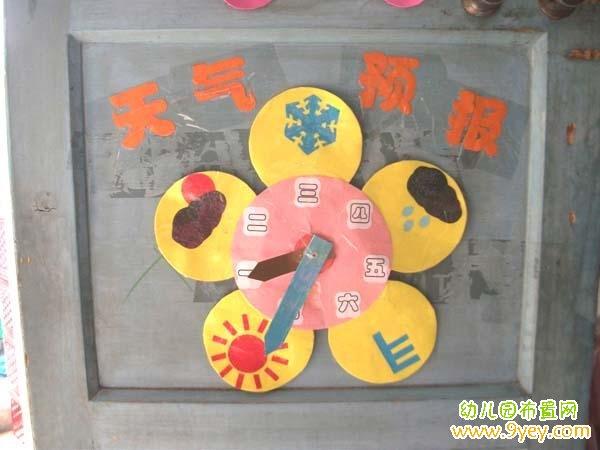 幼儿园简单的天气预报墙手工设计图片