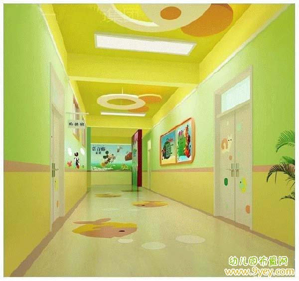园室内走廊墙面装饰效果图 设计本装修效果图