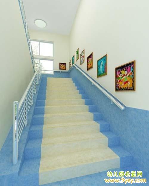幼儿园楼梯装饰 图片_儿童空间网
