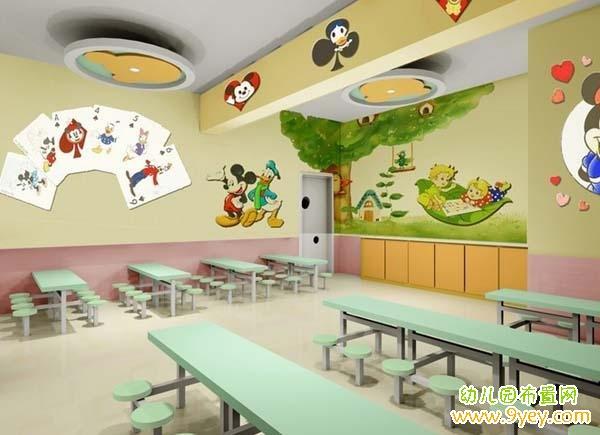 幼儿园餐厅装修设计效果图