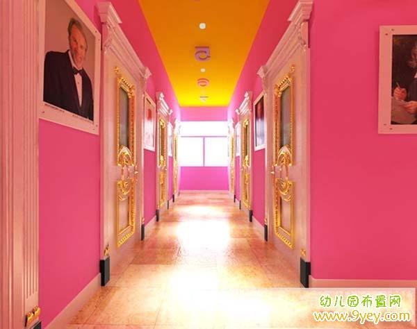 幼儿园欧式风格的楼道环境装修设计