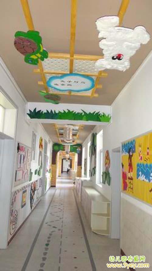 幼儿园楼道墙面吊顶装饰图片