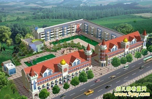 欧式贵族幼儿园建筑设计效果图