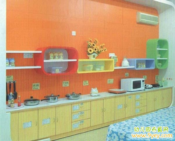 幼儿园厨房环境装饰布置图片