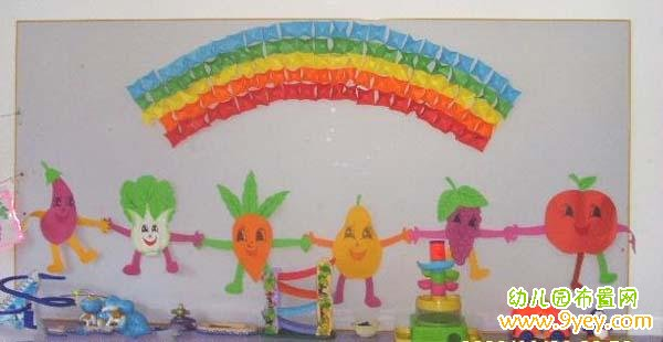 幼儿园蔬菜水果墙饰装饰