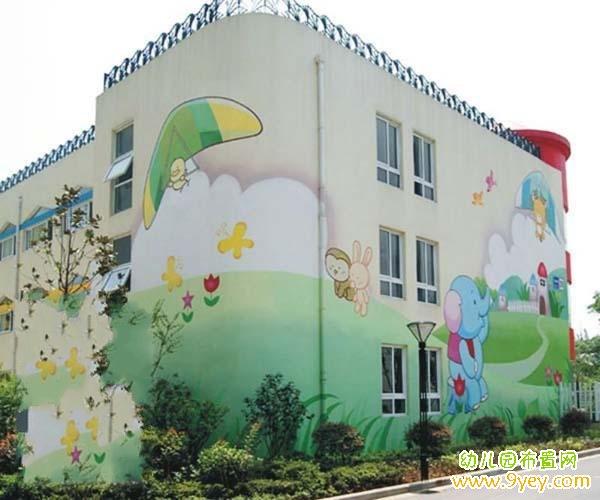 幼儿园外墙壁画设计图案