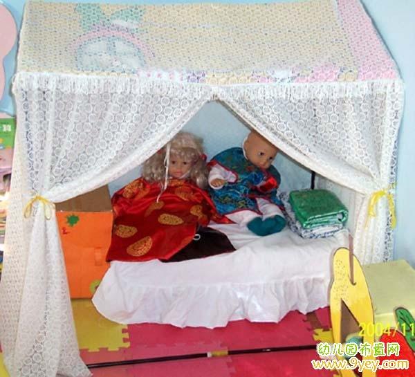 幼儿园娃娃家床铺布置_幼儿园布置网