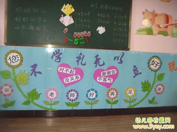 幼儿园文明礼仪环境布置图片图片
