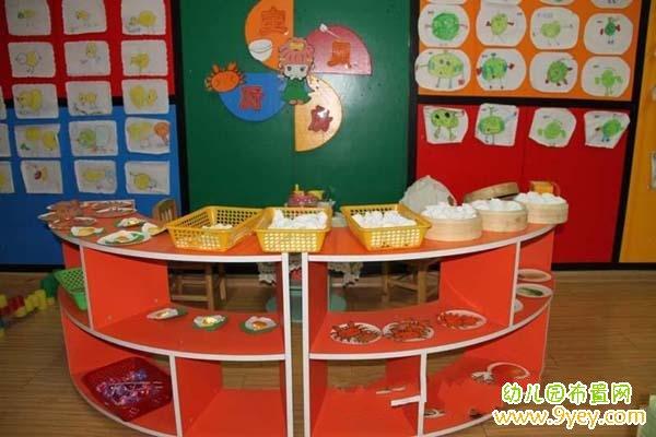 幼儿园厨房角色游戏区布置
