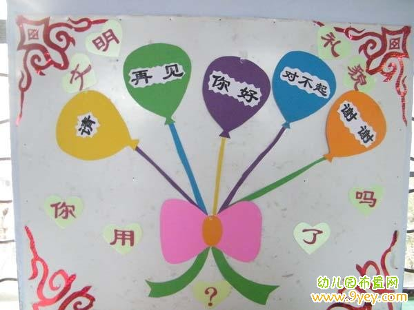 幼儿园文明礼仪布置
