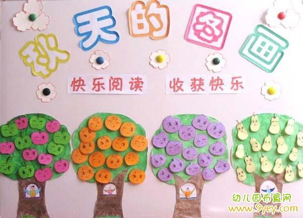 幼儿园小班秋天墙饰:秋天的图画图片