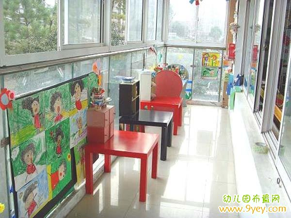 幼儿园阳台美工区角布置图片
