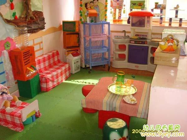 幼儿园娃娃家餐厅布置图片