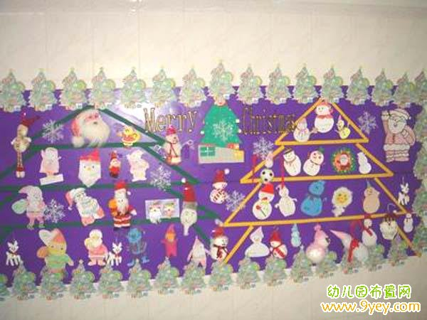 幼儿园小小班圣诞节板报布置图片