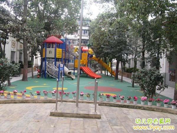 幼儿园校园升旗台设计图片