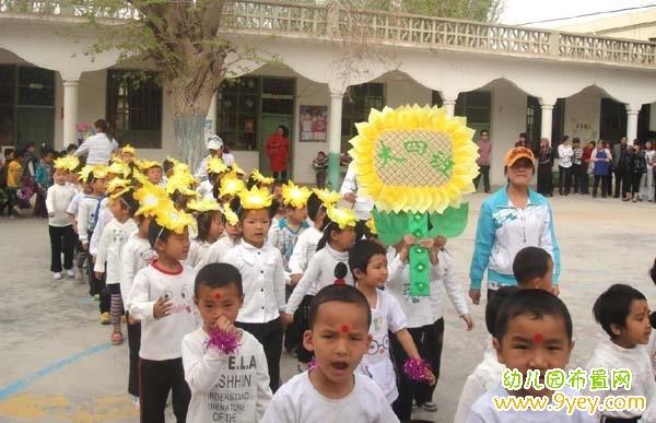 幼儿园向日葵班牌设计制作图片