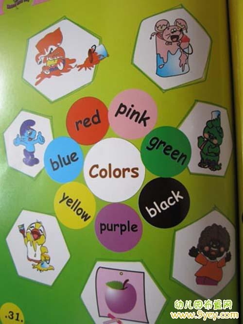 幼儿园卡通英语角布置图片_幼儿园布置网