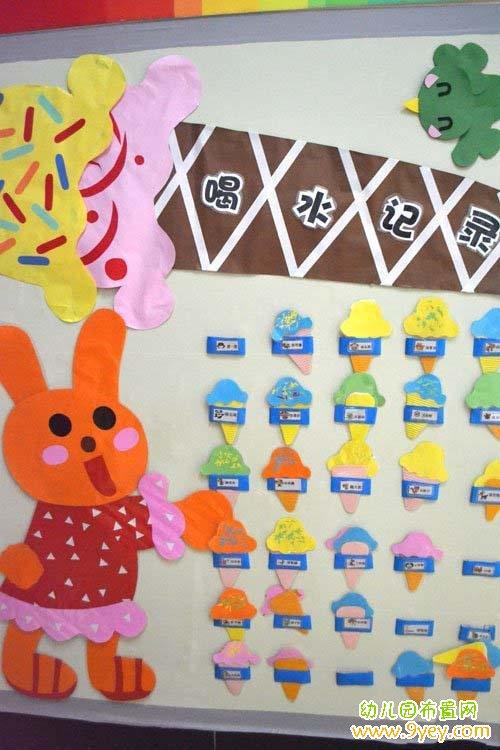 幼儿园学前班喝水区角设计图片
