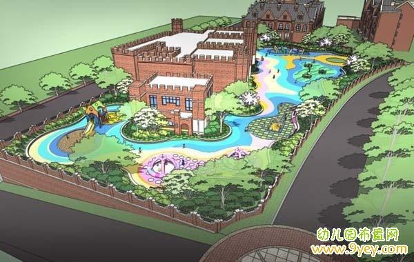 幼儿园景观手绘设计效果图
