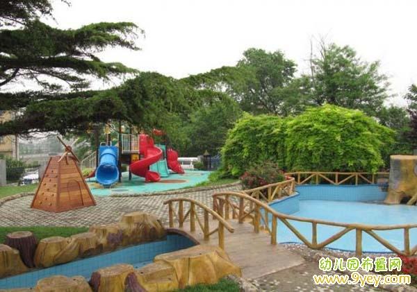 幼儿园室外景观设计方案图片:小桥流水