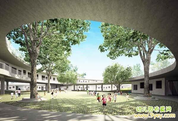 幼儿园校园院子广场景观设计案例图片