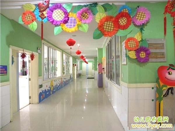 幼儿园过道吊饰装饰图片
