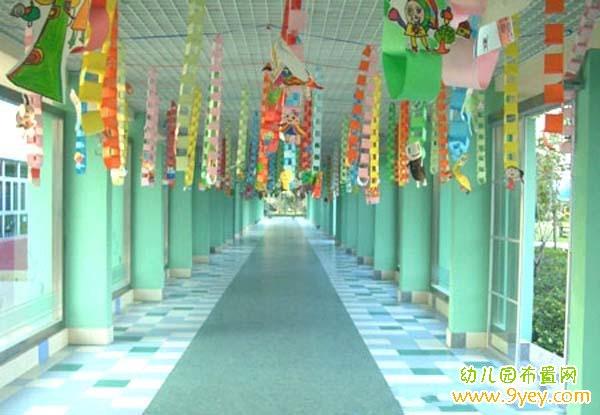 幼儿园过道走道挂饰布置图片