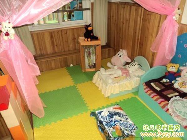 幼儿园娃娃家角色游戏区布置图片