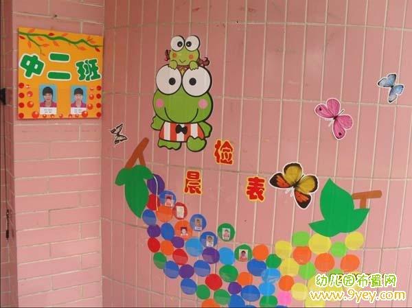 幼儿园教室门口晨检表布置图片