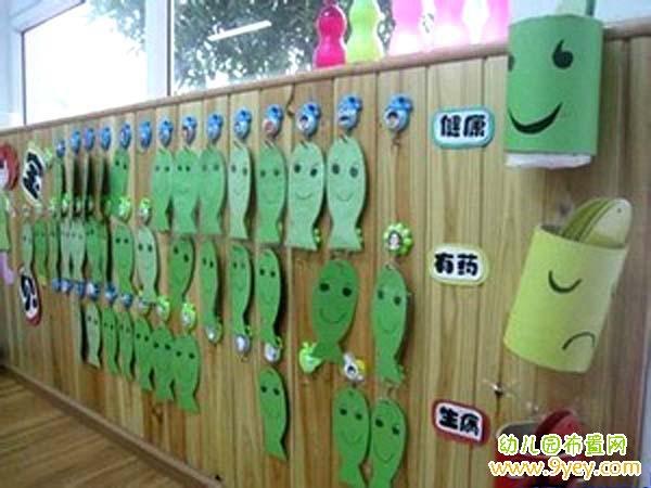 幼儿园创意晨检栏设计图片