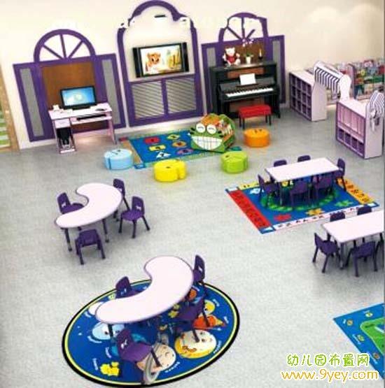 高档幼儿园餐厅区角环境布置图片