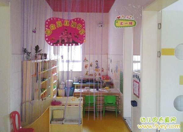 幼儿园大班餐厅区角装饰图片:迪士尼主题餐厅