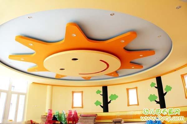 幼儿园天花板可爱图案设计图片